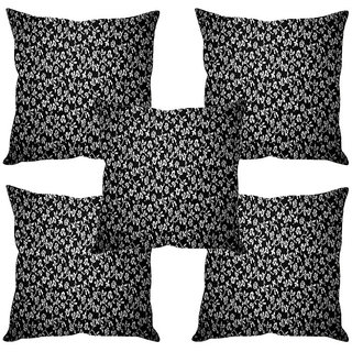 Sleep NatureS Small Flower Printed Cushion Covers Set Of Five