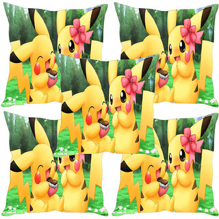 Sleep NatureS Cute Bunnies Printed Cushion Covers Set Of Five