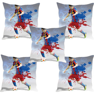 Sleep NatureS Football Star Printed Cushion Covers Set Of Five