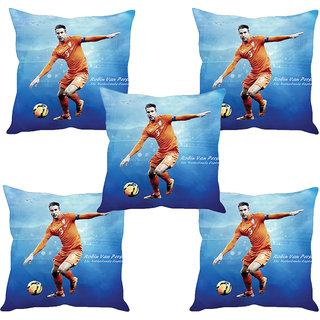Sleep NatureS Football Star Printed Cushion Covers Set Of Five