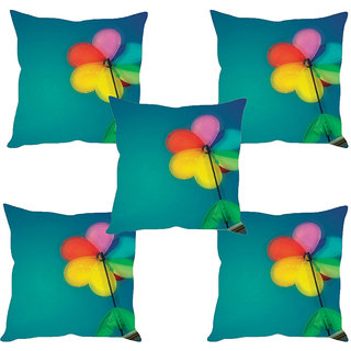 Sleep NatureS Flower Printed Cushion Covers Set Of Five