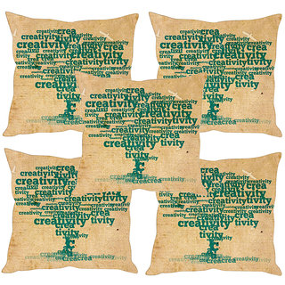 Sleep NatureS Quotes Tree Printed Cushion Covers Set Of Five