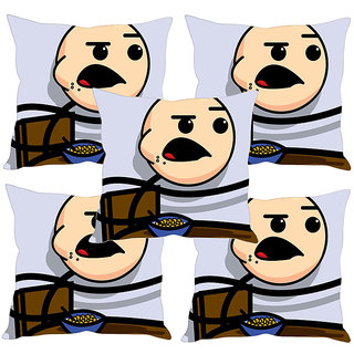 Sleep NatureS Cartoon Printed Cushion Covers Set Of Five
