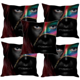Sleep NatureS Girl Printed Cushion Covers Set Of Five