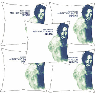 Sleep NatureS Quotes Printed Cushion Covers Set Of Five