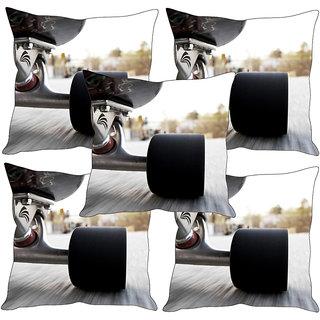 Sleep NatureS Racing Car Printed Cushion Covers Set Of Five