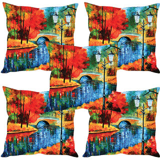 Sleep NatureS Abstract Printed Cushion Covers Set Of Five