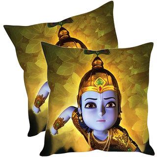 Sleep NatureS Krishna Cartoon Printed Cushion Covers Pack Of 2