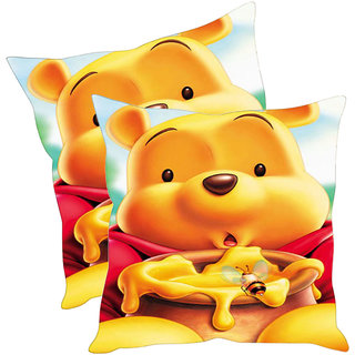 Sleep NatureS Bear Cartoon Printed Printed Cushion Covers Pack Of 2