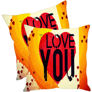 Sleep NatureS Love Quotes Printed Cushion Covers Pack Of 2
