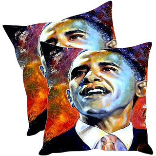 Sleep NatureS Obama Printed Cushion Covers Pack Of 2