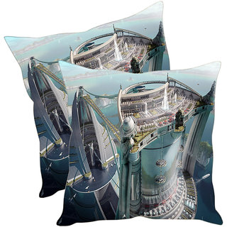 Sleep NatureS Architecture Printed Cushion Covers Pack Of 2