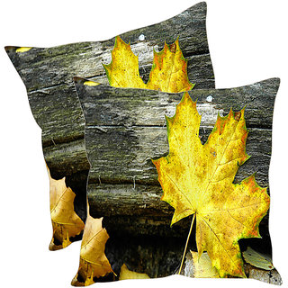 Sleep NatureS Leafs Printed Cushion Covers Pack Of 2