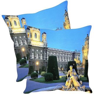 Sleep NatureS Historical Monument Printed Cushion Covers Pack Of 2