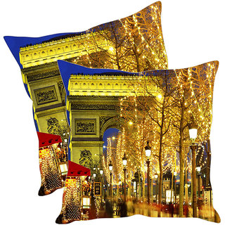 Sleep NatureS Lamp Post Printed Cushion Covers Pack Of 2