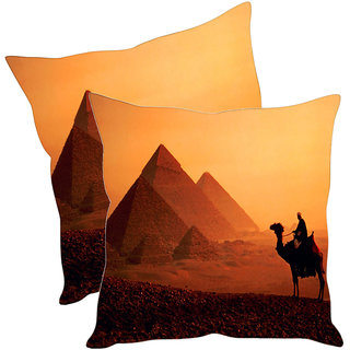 Sleep NatureS Pyramids Printed Cushion Covers Pack Of 2