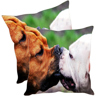 Sleep NatureS Dog Printed Cushion Covers Pack Of 2