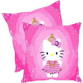 Sleep NatureS Cat Printed Cushion Covers Pack Of 2