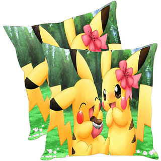 Sleep NatureS Cute Bunnies Printed Cushion Covers Pack Of 2