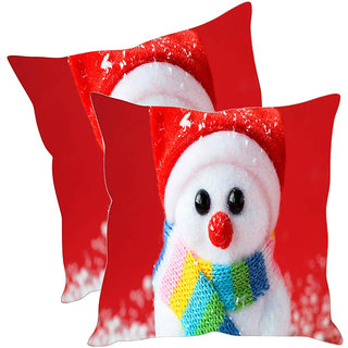 Sleep NatureS Snow Bunny Printed Cushion Covers Pack Of 2