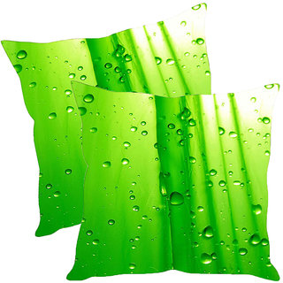 Sleep NatureS Water Drops Printed Cushion Covers Pack Of 2