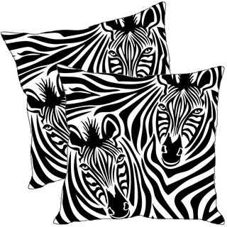 Sleep NatureS Zebra Printed Cushion Covers Pack Of 2
