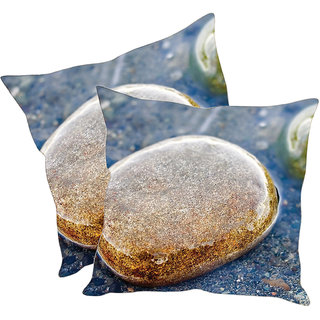 Sleep NatureS Stone Printed Cushion Covers Pack Of 2