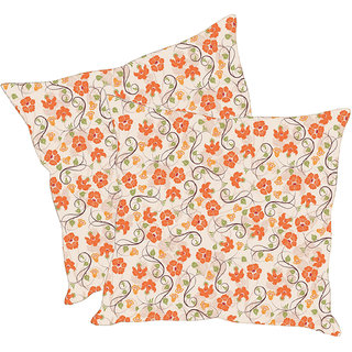Sleep NatureS Flowers Printed Cushion Covers Pack Of 2
