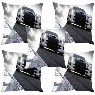 Sleep NatureS Nfs Printed Cushion Covers Set Of Five
