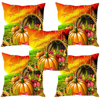 Sleep NatureS Thank You Printed Cushion Covers Set Of Five