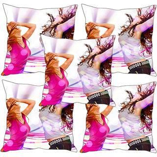 Sleep NatureS Girls Printed Cushion Covers Set Of Five