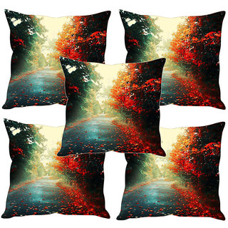 Sleep NatureS Nature Printed Cushion Covers Set Of Five