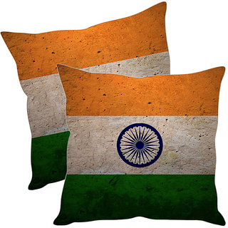 Sleep NatureS Indian Flag Printed Cushion Covers Pack Of 2