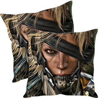 Sleep NatureS Gangster Printed Cushion Covers Pack Of 2