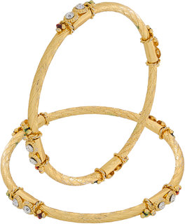 Luxor Gold Plated Gold Alloy Bangles for Women
