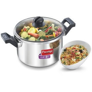 Prestige Clip On Series Stainless Steel Multi-Tasking Pressure Cookware - 5 Litre (36326)