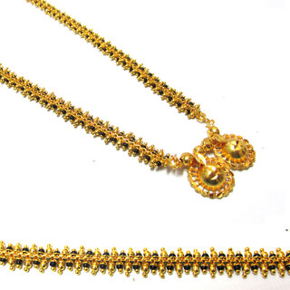 Macro Gold plated Twin Beaded Beena wati Mangalsutra /Necklace/wedding jewellery