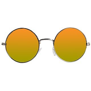 Derry Silver UV Protection Round Sunglasses For Men