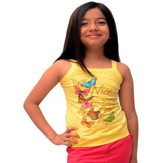 Titrit Yellow sleeveless top
