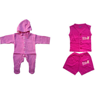baby 1cotton dress with 1baby grow combo