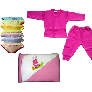 baby tharmal dress baby soft face towel and velvety blanket