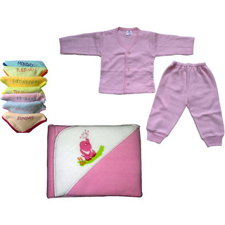 baby7face towel 1set tharmal dress 1 velvety blanket