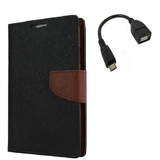 YGS Premium Diary Wallet Case Cover For Sony Xperia Z2-Brown With Micro OTG