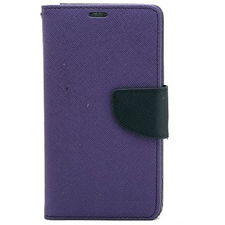 YGS Premium Diary Wallet Mobile Case Cover For Micromax Canvas Spark Q380-Purple