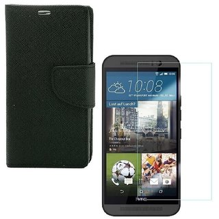 YGS Premium Diary Wallet Mobile Case Cover For Motorola Moto G 3rd Gen-Black With Tempered Glass