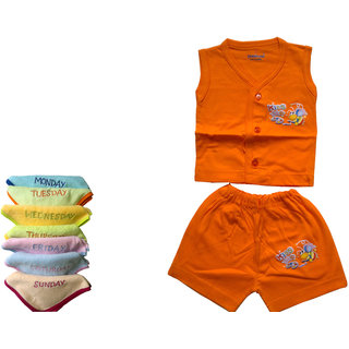baby cotton dress with face towel