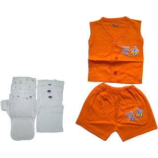 baby cotton dress white daiper nappy vest
