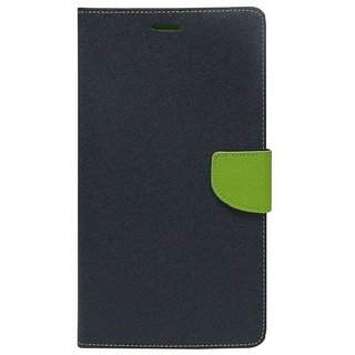 YGS Premium Diary Wallet Mobile Case Cover For  Micromax Canvas Fire 4 A107-Blue