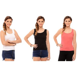 aec9baed39d54c Buy ChileeLife Womens Cross Strap Camisoles Combo - Pack of 3