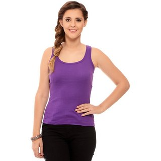 ChileeLife Womens Cross Strap Camisole - Single, L Size (Purple)